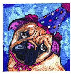 Party Pup embroidery design