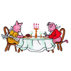 Piggies embroidery design