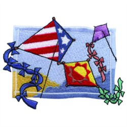 Patriotic Kite embroidery design