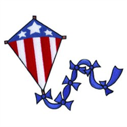 Patriotic Kite and Beach Towel embroidery design