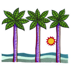 Palm Trees embroidery design