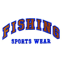 Fishing Sports Wear embroidery design