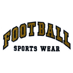 Football Sports Wear embroidery design