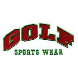 Golf Sports Wear embroidery design
