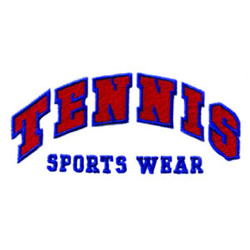 Tennis Sports Wear embroidery design