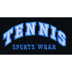 Tennis Applique embroidery design