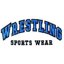 Wrestling Sports Wear embroidery design