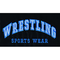 Wrestling Applique embroidery design