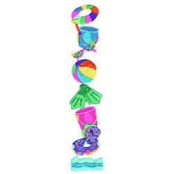Beach Toys embroidery design
