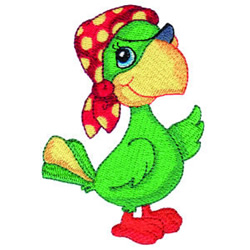 Pirate Parrot embroidery design