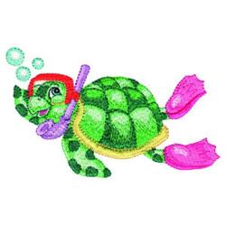 Turtle Diver embroidery design