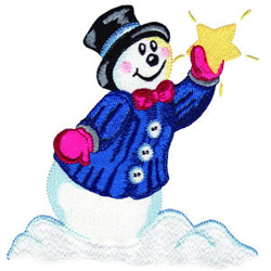 Starlit Snowman embroidery design