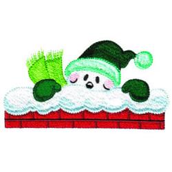 Snow Santa embroidery design