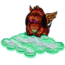 Puppy Angel embroidery design