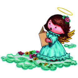 Singing Angel embroidery design