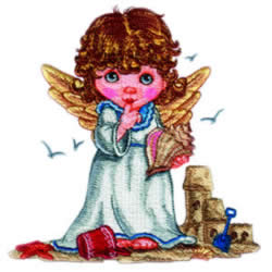 Beach Angel embroidery design