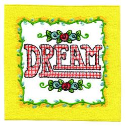Dream embroidery design