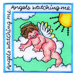Angels Watching Me embroidery design