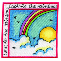 Look For The Rainbow embroidery design