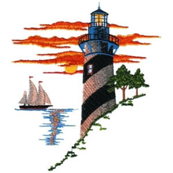 Costal Sunset embroidery design