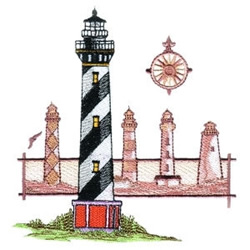 Lighthouse Sandcastles embroidery design