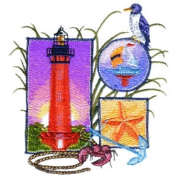 Nautical Collage embroidery design