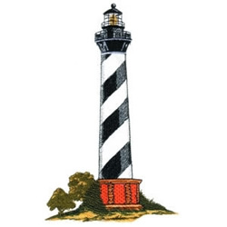 Striped Lighthouse embroidery design
