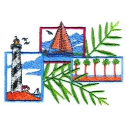 Costal Scenes embroidery design