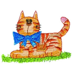 Handsome Kitty embroidery design