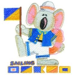 Sailing Koala embroidery design
