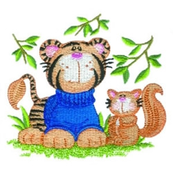 Sweater Tiger embroidery design