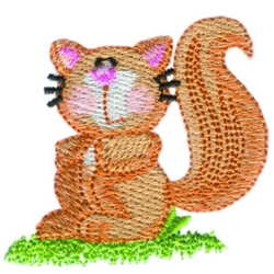 Cute Squirrel embroidery design
