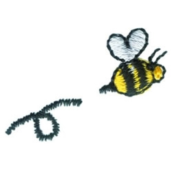 Yellow Bee embroidery design