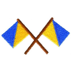 Crossed Flags embroidery design