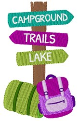 Campground Sign embroidery design