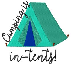 Camping In-Tents embroidery design