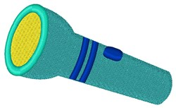 Flashlight embroidery design