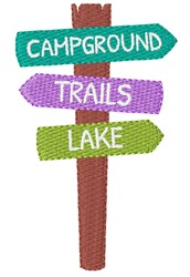 Campground Signs embroidery design