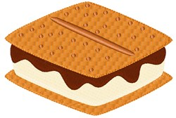 Smores Snack embroidery design