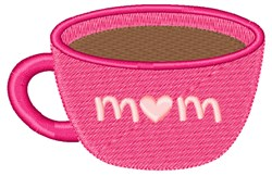Mom Cup embroidery design