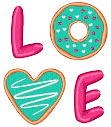 Love Food embroidery design