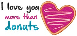 More Than Donuts embroidery design