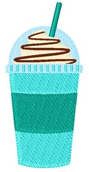 Iced Coffee Cup embroidery design