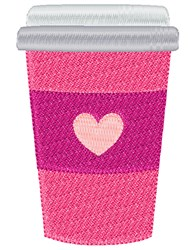 Coffe Cup embroidery design