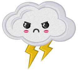 Lightning Cloud embroidery design