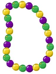Mardi Gras Beads embroidery design
