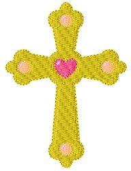 Religious Cross embroidery design