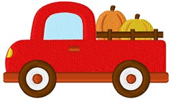 Pumpkin Truck embroidery design