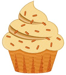 Pumpkin Cupcake embroidery design