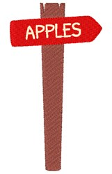 Apple Sign embroidery design